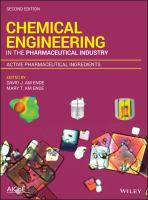 Cover image for CHEMICAL ENGINEERING IN THE PHARMACEUTICAL INDUSTRY : Active Pharmaceutical Ingredients