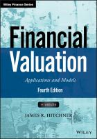 Cover image for Financial Valuation : Applications and Models