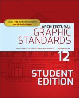 Cover image for ARCHITECTURAL GRAPHIC STANDARDS