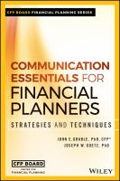 Cover image for Communication Essentials for Financial Planners : Strategies and Techniques