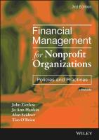 Cover image for Financial management for nonprofit organizations : policies and practices
