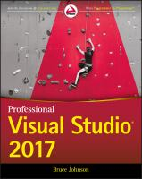 Cover image for PROFESSIONAL Visual Studio 2017