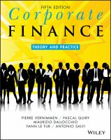 Cover image for CORPORATE FINANCE : THEORY AND PRACTICE