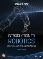 Cover image for Introduction to Robotics : Analysis, Control, Applications