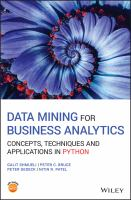 Cover image for DATA MINING FOR BUSINESS ANALYTICS : Concepts, Techniques and Applications in Python