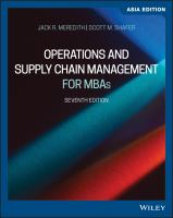 Cover image for OPERATIONS AND SUPPLY CHAIN MANAGEMENT FOR MBAs