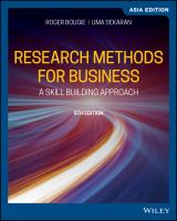 Cover image for Research Methods for Business : A Skill-Building Approach