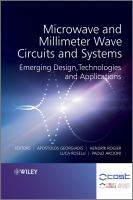 Cover image for Microwave and millimeter wave circuits and systems : emerging design, technologies, and applications