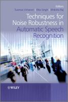 Cover image for Techniques for noise robustness in automatic speech recognition