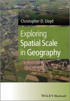 Cover image for Exploring spatial scale in geography