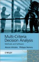 Cover image for Multi-criteria decision analysis : methods and software