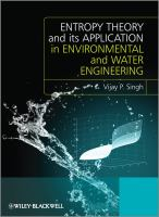 Cover image for Entropy theory and its application in water engineering
