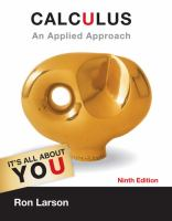 Cover image for Calculus : an applied approach