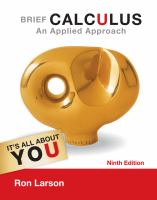 Cover image for Brief calculus : an applied approach