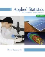 Cover image for Applied statistics for engineers and scientists