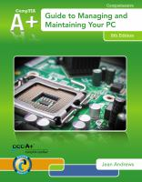 Cover image for A+ guide to managing and maintaining your PC
