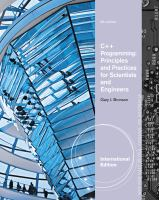 Cover image for C++ programming principles and practices for scientists and engineers