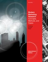 Cover image for Modern marketing research : concepts, methods, and cases