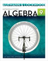 Cover image for Introductory Algebra : an applied approach
