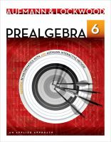 Cover image for Prealgebra : an applied approach