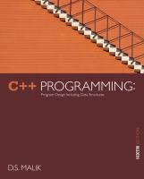 Cover image for C++ Programming: program design including data structures