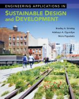 Cover image for ENGINEERING APPLICATIONS IN SUSTAINABLE DESIGN AND DEVELOPMENT