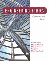 Cover image for Engineering ethics : concepts and cases