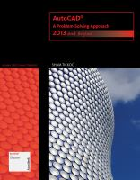 Cover image for AutoCAD : a problem-solving approach : 2013 and beyond