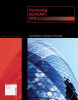 Cover image for Harnessing AutoCad : 2013 and beyond