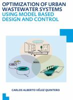 Cover image for Optimization of urban wastewater systems using model based design and control