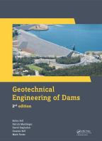 Cover image for Geotechnical engineering of dams
