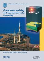Cover image for Groundwater modeling and management under uncertainty : proceedings of the sixth IAHR International Groundwater Symposium, Kuwait Institute for Scientific Research (KISR), Kuwait, November 19-21, 2012