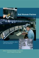 Cover image for Rail human factors : supporting reliability, safety and  cost reduction