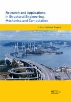 Cover image for Research and applications in structural engineering, mechanics and computation