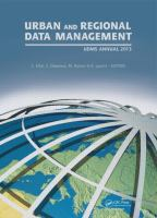Cover image for Urban and regional data management: UDMS Annual 2013
