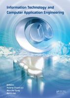 Cover image for Information technology and computer application engineering