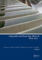 Cover image for Labyrinth and piano key weirs II : PKW 2013