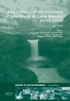 Cover image for One century of the discovery of arsenicosis in Latin America (1914-2014) As 2014 :  proceedings of the 5th International Congress on Arsenic in the Environment, May 11-16, 2014, Buenos Aires, Argentina