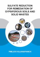 Cover image for Sulfate reduction for remediation of gypsiferous soils and solid wastes