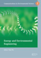 Cover image for Energy and environmental engineering :bproceedings of the International Conference on Energy and Environmental Engineering (ICEEE 2014), September 21-22, 2014, Hong Kong