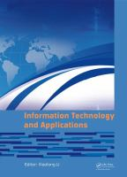 Cover image for Information Technology and Applications : Proceedings of the 2014 International Conference on Information Technology and Applications (ITA2014), Xi'an, China, 8-9 August 2014