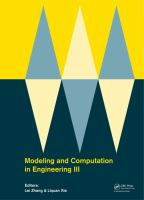 Cover image for Modeling and computation in engineering III : proceedings of the 3rd International Conference on Modeling and Computation in Engineering (CMCE 2014), Wuxi, China, 28-29 June 2014