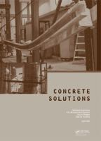 Cover image for Concrete solutions : Proceeding of Concrete Solutions 5th International Conferences on Concrete Repair, Belfast, Northern Ireland, 1-3 September 2014