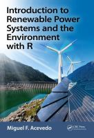 Cover image for Introduction to renewable power systems and the environment with R