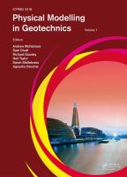 Cover image for Physical Modelling in Geotechnics : PROCEEDINGS OF THE 9TH INTERNATIONAL CONFERENCE ON PHYSICAL MODELLING IN GEOTECHNICS 2018 (ICPMG 2018), LONDON, UK, 17-20 JULY 2018
