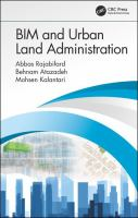 Cover image for BIM and Urban Land Administration