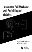 Cover image for Unsaturated Soil Mechanics with Probability and Statistics