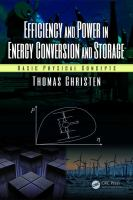 Cover image for Efficiency and power in energy conversion and storage : basic physical concepts