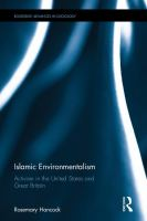 Cover image for Islamic Environmentalism : Activism in the United States and Great Britain