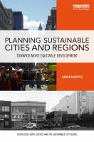 Cover image for Planning sustainable cities and regions : towards more equitable development